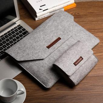 Tas Laptop Softcase Laptop Sleeve Simply Wool Felt 11 - 12 inch free pouch