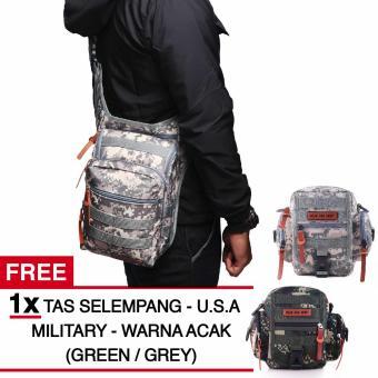 Tas Selempang Gear Bag Swiss Army Forced - Civil Protection + FREE Tas Selempang U.S.A Military