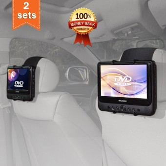 TFY Car Headrest Mount Holder for SYLVANIA SDVD9805 Portable DVD Player (Also fit all 7