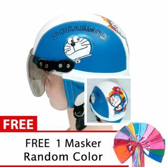 Toserba - Helm Anak Lucu Usia 1-4 Tahun Karakter Doraemon - Biru/Putih