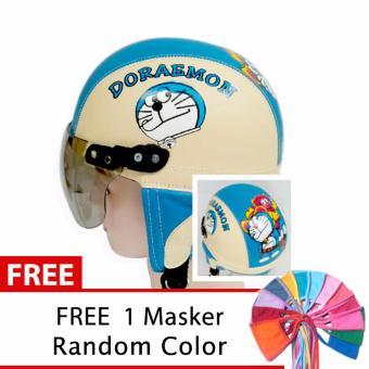 Toserba - Helm Anak Lucu Usia 1-4 Tahun Karakter Doraemon - Cream/Biru
