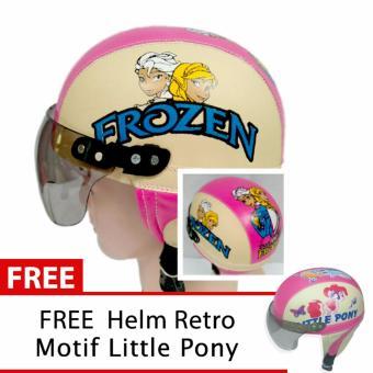 Toserba - Helm Anak Lucu Usia 1-4 Tahun Karakter Frozen - Pink/Cream