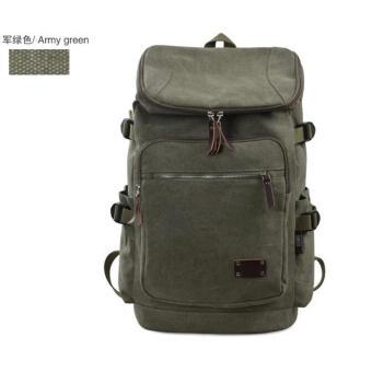 Travel bag ransel kanvas tahan air perjalanan luar ruangan laki-laki besar tas travel tas