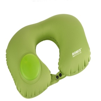 U Shape Automatic Pneumatic Inflatable Portable Travel Pillow