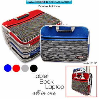 Ultimate Softcase / Slave / Cover / Tas Laptop Double Rainbow 14 inch GREY