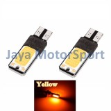 Detail Gambar JMS - 1 pair (2 pcs) Lampu LED Plasma Mobil / Motor / Senja T10 / Wedge Side Canbus COB 24 SMD - Yellow Terbaru