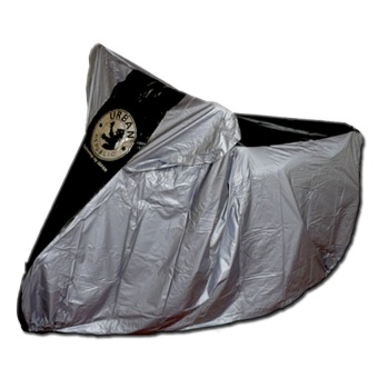 Urban Cover Sarung Mantel Selimut Motor - Silver Hitam