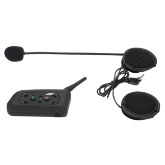 V6-1200 Motor Bluetooth Headset/Interkom 1200 M Handsfree Interphone Helm Headset Hitam untuk