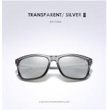 cf05971773f Gambar Produk Rinci VEITHDIA 387 Fashion Alloy Frame Square Polarized  Sunglasses Pria Mengemudi Kacamata Transparan Silver-Intl Terkini