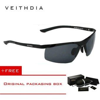 VEITHDIA Magnesium Aluminium Terpolarisasi Lensa Kacamata Hitam Pria Pengemudi Cermin Matahari Kacamata 6501