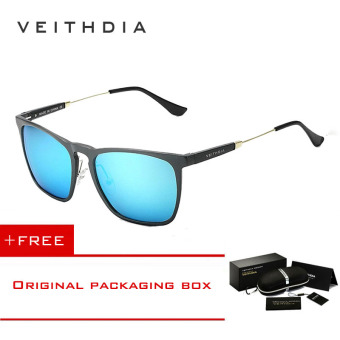 VEITHDIA Pria Square Retro Aluminium Kacamata Hitam Terpolarisasi Biru Vintage  Eyewear Aksesoris Lensa Kacamata For Pria 6cfea243cf