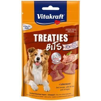 Vitakraft Treaties Bits - Liver Sausage. Suplemen makanan untuk Anjing