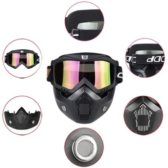 VORSTEK Knight outfit Retro Harley Mask cross-country motorcycle racing goggles riding helmet glasses Horse