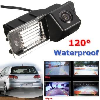 Waterproof Rear View Parking Reverse Night Vision Kamera untuk VW Golf MK6 GTI MK7-Intl