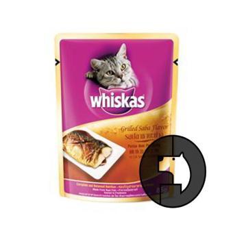 whiskas 85 gr adult grilled saba flavor
