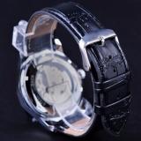 Pemenang Blue Ocean Geometri Desain Transparan Skeleton Dial Men Watch Top Brand Luxury Otomatis Fashion Mechanical Watch Clock-Intl - 5