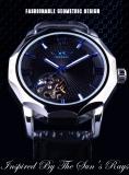 Pemenang Blue Ocean Geometri Desain Transparan Skeleton Dial Men Watch Top Brand Luxury Otomatis Fashion Mechanical Watch Clock-Intl - 2