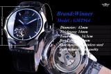 Pemenang Blue Ocean Geometri Desain Transparan Skeleton Dial Men Watch Top Brand Luxury Otomatis Fashion Mechanical Watch Clock-Intl - 3
