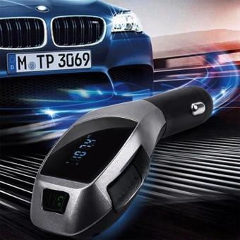 Nirkabel Bluetooth LCD MP3 Player Car Kit SD MMC USB FM Transmitter Modulator-Intl