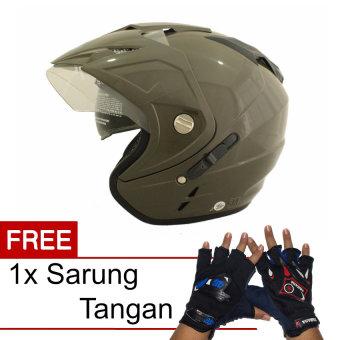 WTO Helmet Impressive - Hijau Tua + Promo Gratis Sarung Tangan