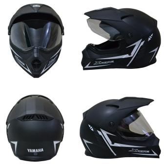 Yamaha Helm Full Face Xabre (black doff) - Helm Yamaha Full FaceXabre - Helm Full Face