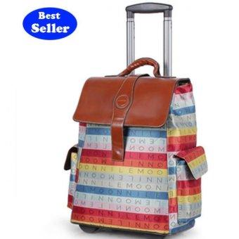 YINGMEI Waterproof Travel Luggage Membawa Cek Dalam Tas Weekender Tas Bahu  Gaya Praktis Koper Trolley- ef0e41dd40