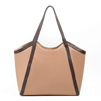 Zada Tote Wanita Tote Leather Bag - Tan