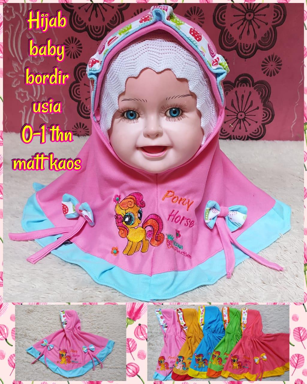 hijab bayi / kerudung cantik bayi 2in1