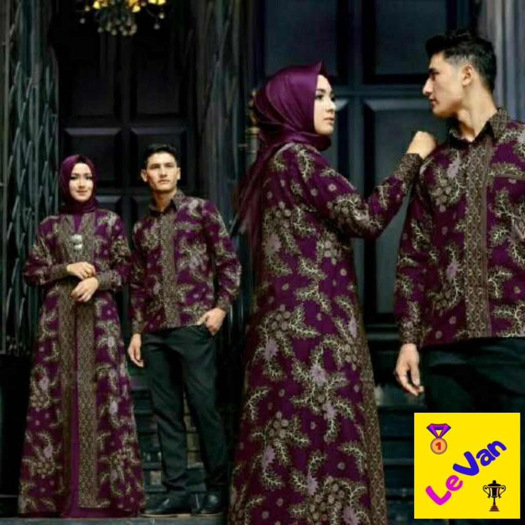 levan – couple batik sarimbit pakaian pasangan keluarga untuk pesta lebaran kondangan busana muslim kemeja lengan panjang modern model  2020