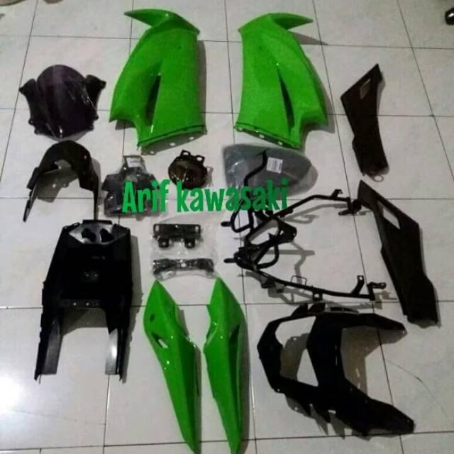 upgrade fairing cover body full set depan belakang ninja rr new