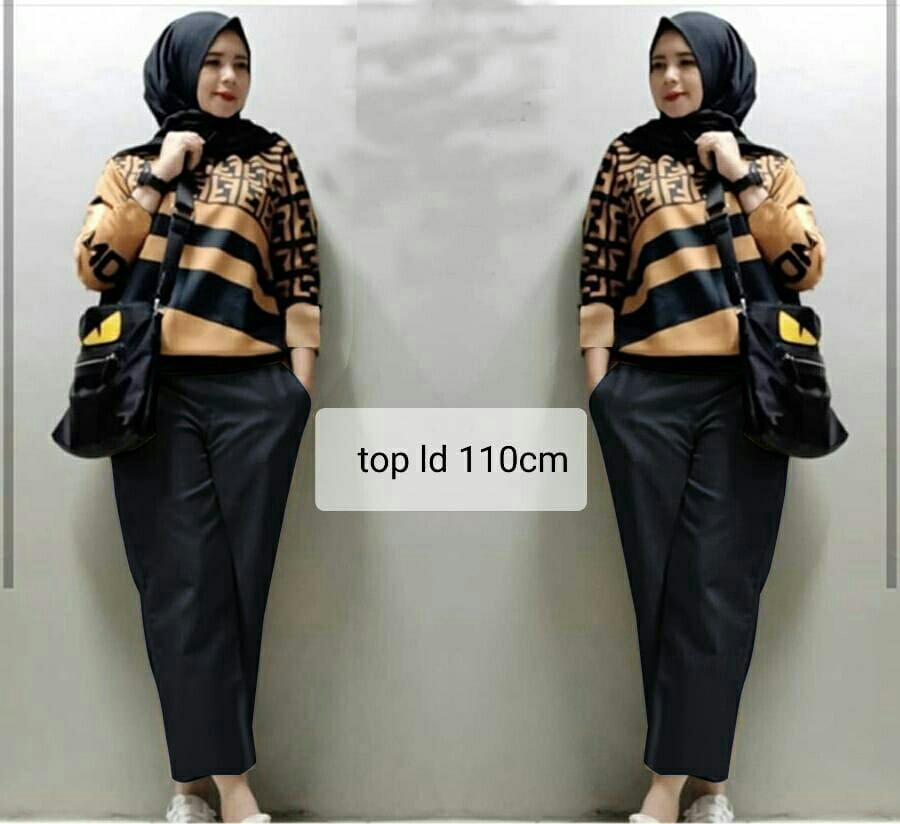 Honeyclothing Setelan Wanita Felix / Setelan Muslim Hijab Wanita / Baju Muslim Wanita Terbaru / Baju