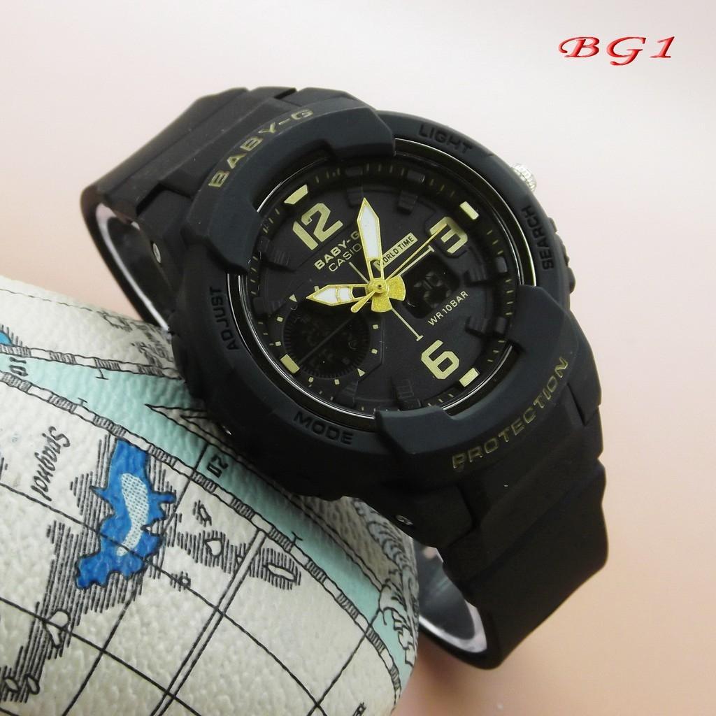 Jam Tangan sport/fashion wanita BABY G BG 180 dualtime limited edision