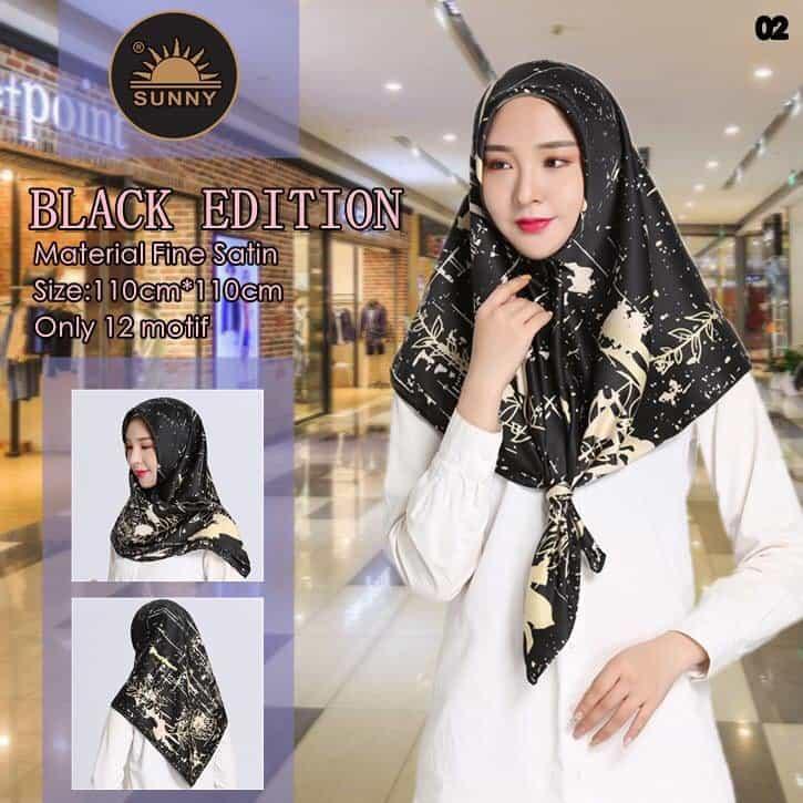 Hijab Segi Empat NEW BLANK EDITION / Jilbab Segi Empat Motif / Kerudung Segi Empat Motif