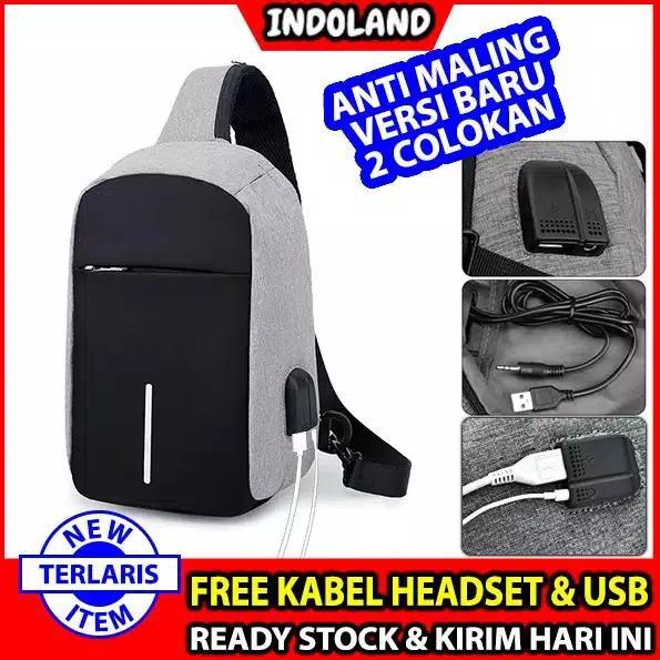 INDOLAND READY STOCK ANTI THIEF USB Tas Selempang Smart Bag Theft Anti  Maling Slempang Keren deddc00ba0