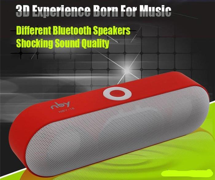 NDR-Store Speaker Bluetooth Mini Protable Wireless NBY-18 Stereo Subwoofer USB TF Card