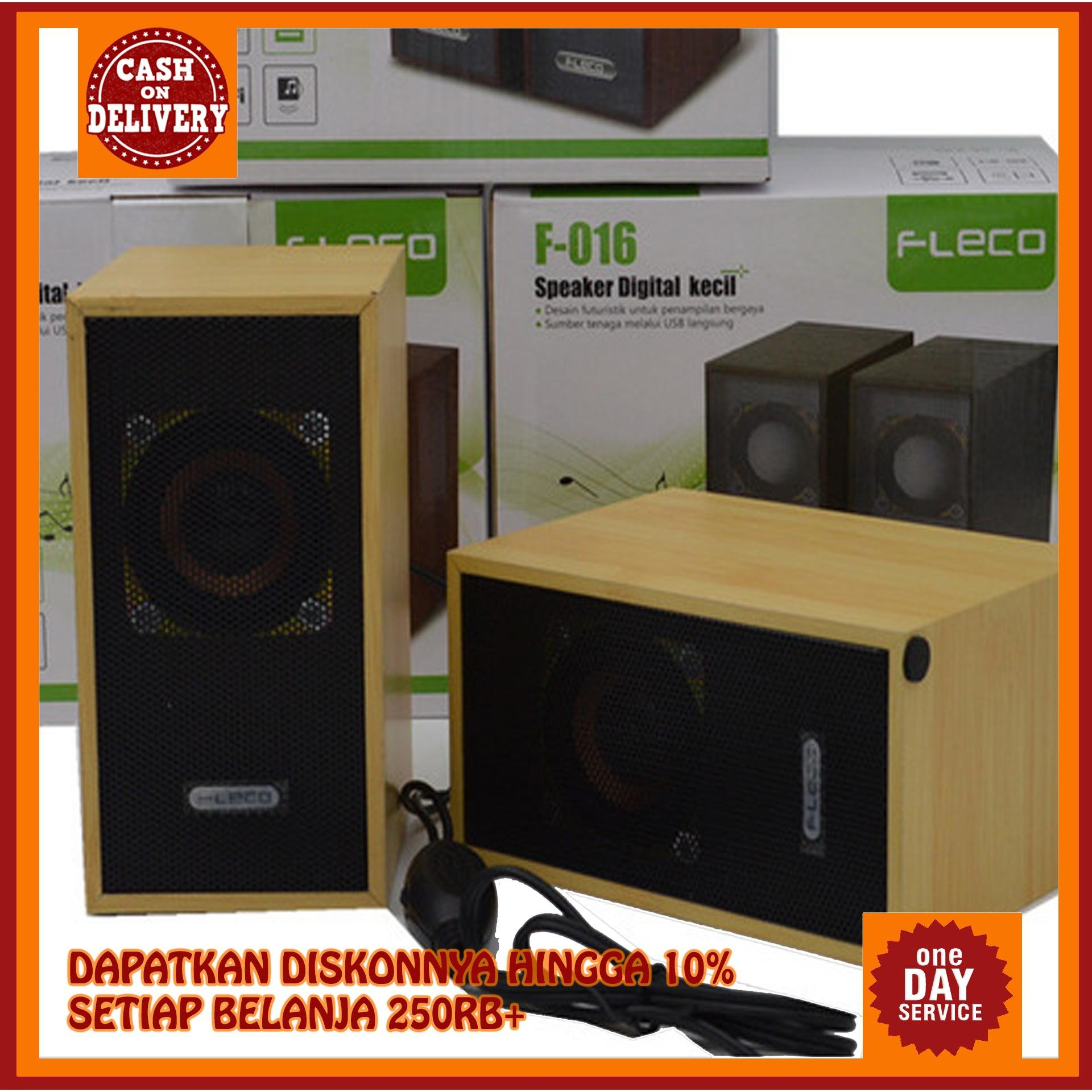 (gratis ongkir) speaker fleco f-016 / speaker active mini digital fleco f016 wooden usb 2.0 superbass mantap f 016 f16 / mega bass musik audio aktif komputer handphone portable