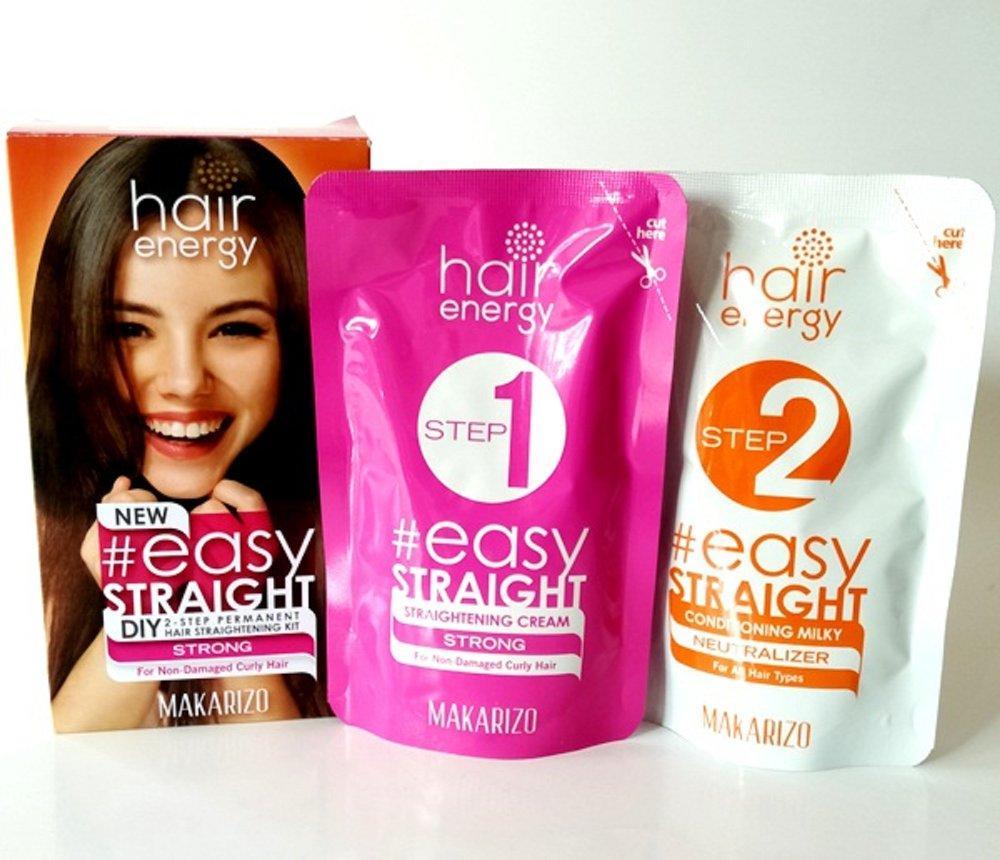 makarizo hair energy easy straight – mild 120 ml pelurus rambut permanen