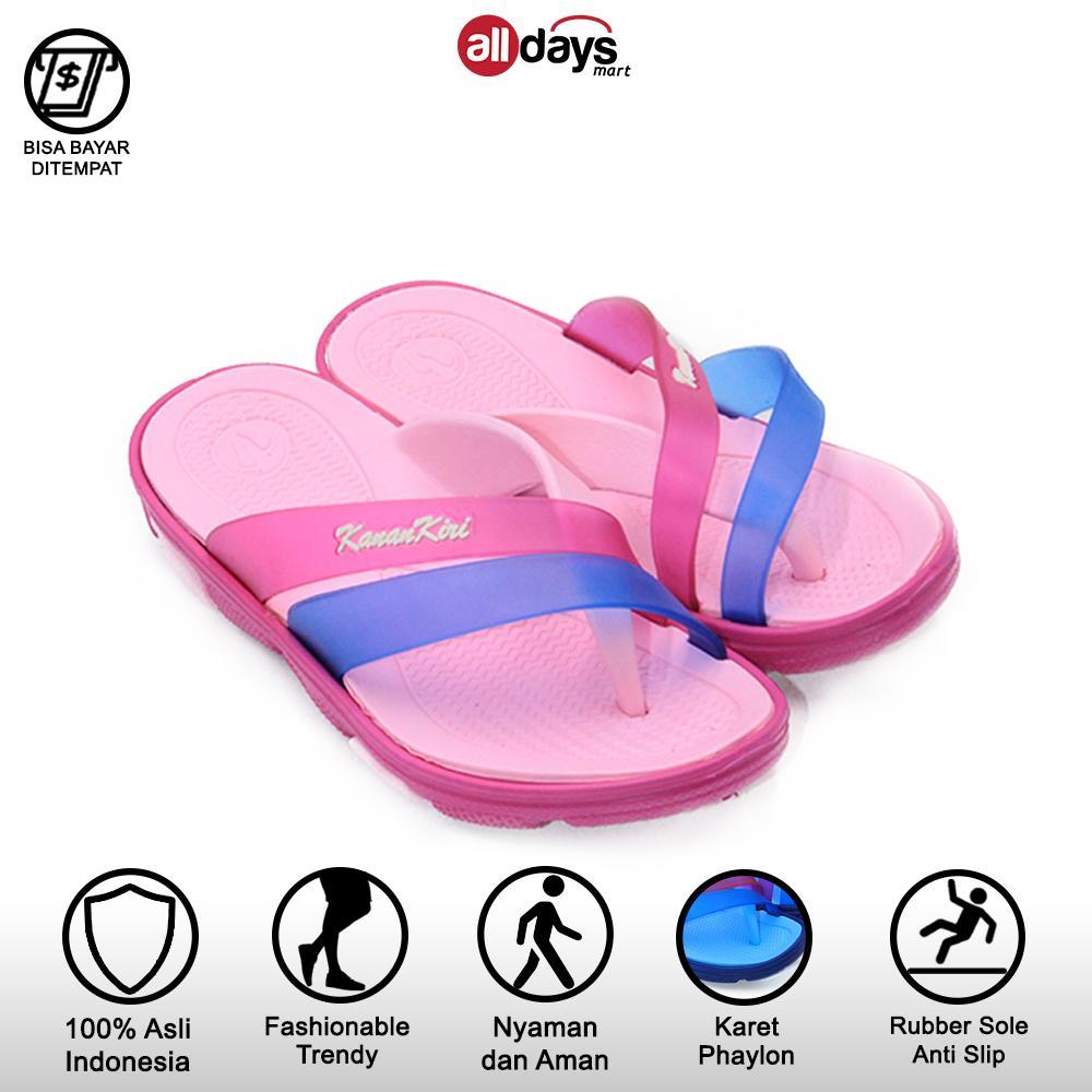 kanan-kiri sandal jepit casual anak perempuan 7003 size 24-35