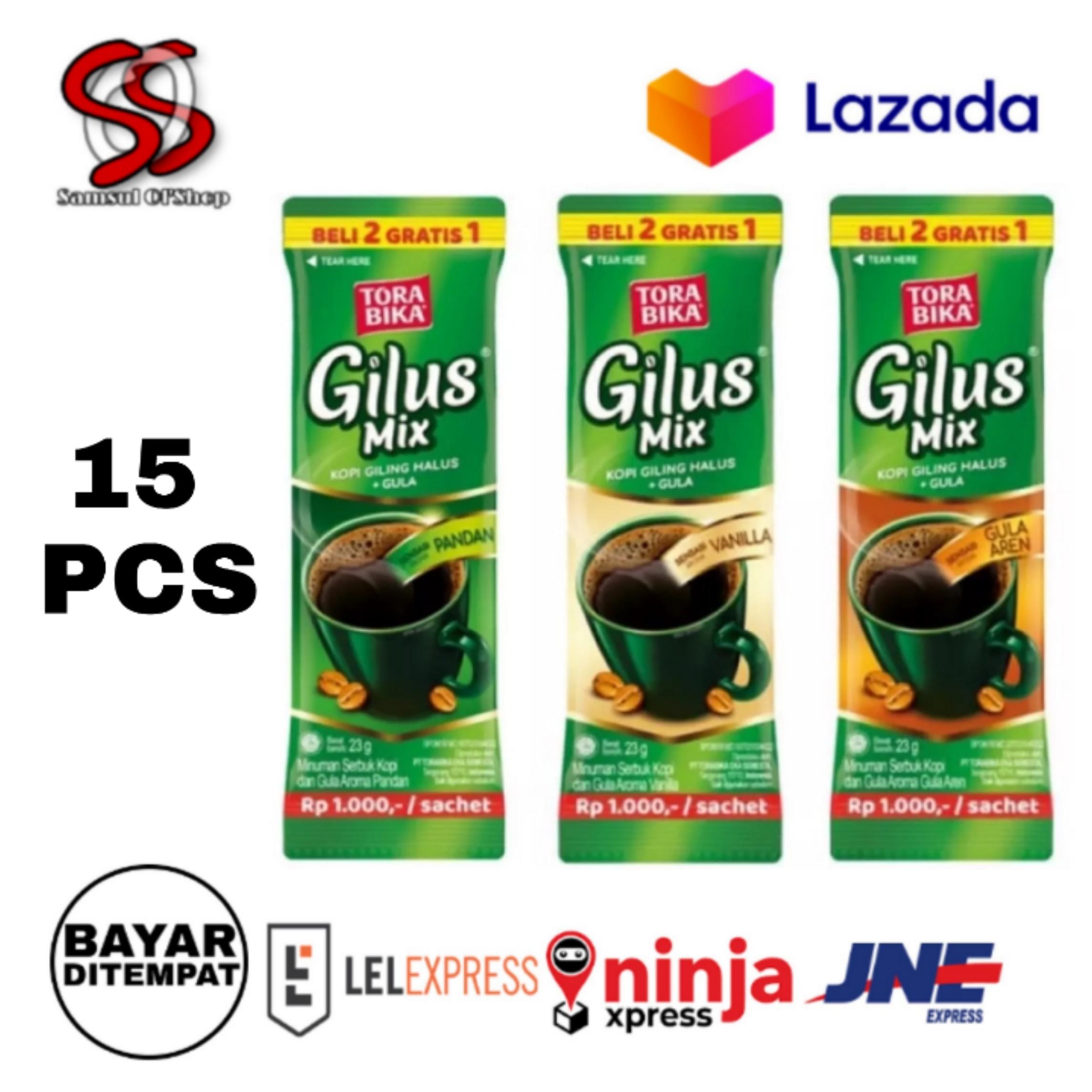 torabika gilus mix 3 rasa vanila-gula aren-pan(15pcs) / kopi gilus mix  2 gratis 1