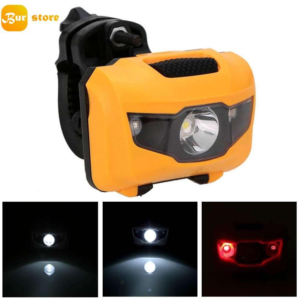 Burstore USB Berwarna Super Cerah Lampu Sepeda LED Tahan Air Lampu Depan Lampu Sepeda