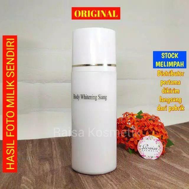 [original] isi 1 botol –  hb siang anggur spf 45+ body whitening lotion handbody pemutih basuper dosis tinggi