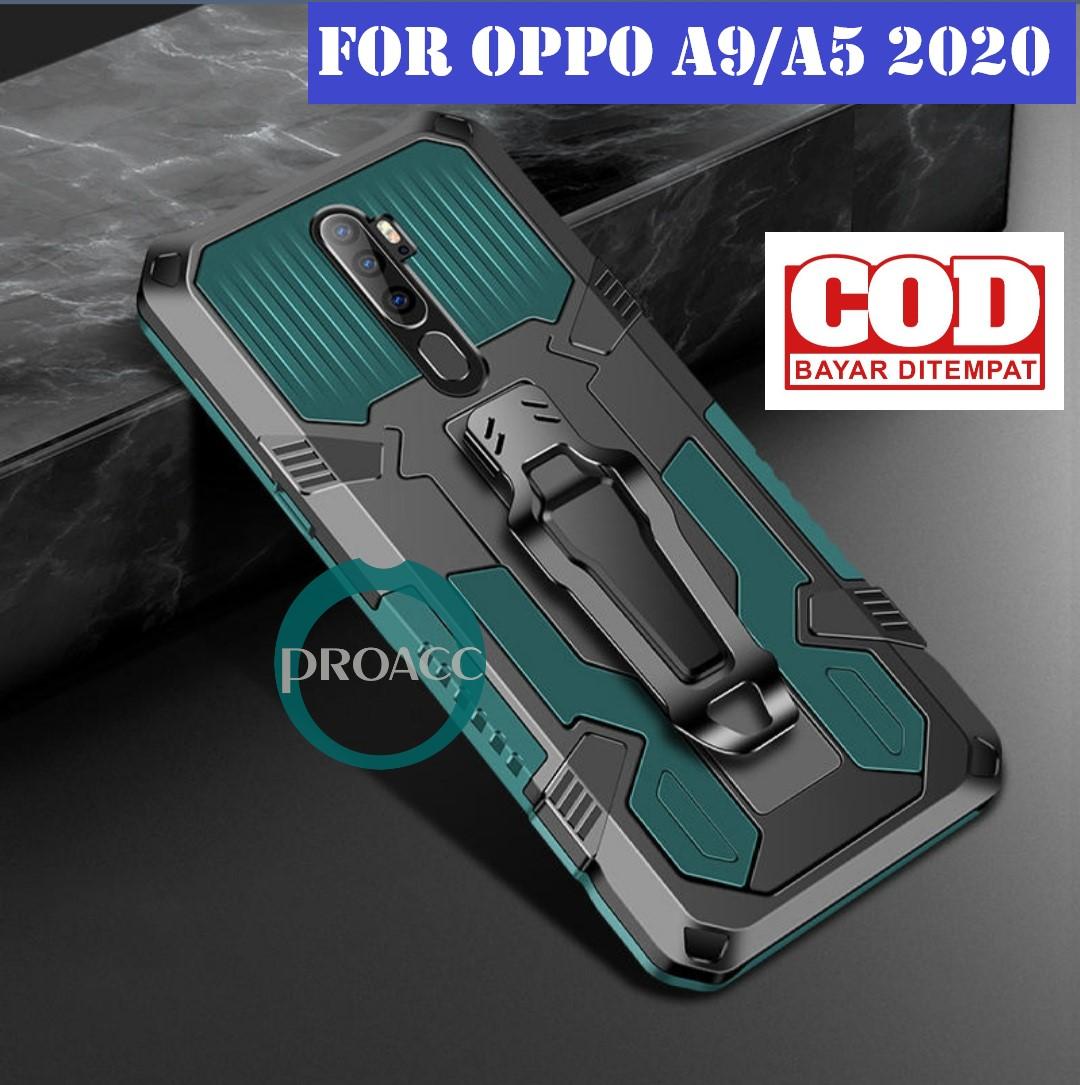 case hp kickstanding clip for oppo a9/a5 2020 casing hp robot case armor kesing hp pelindung hp