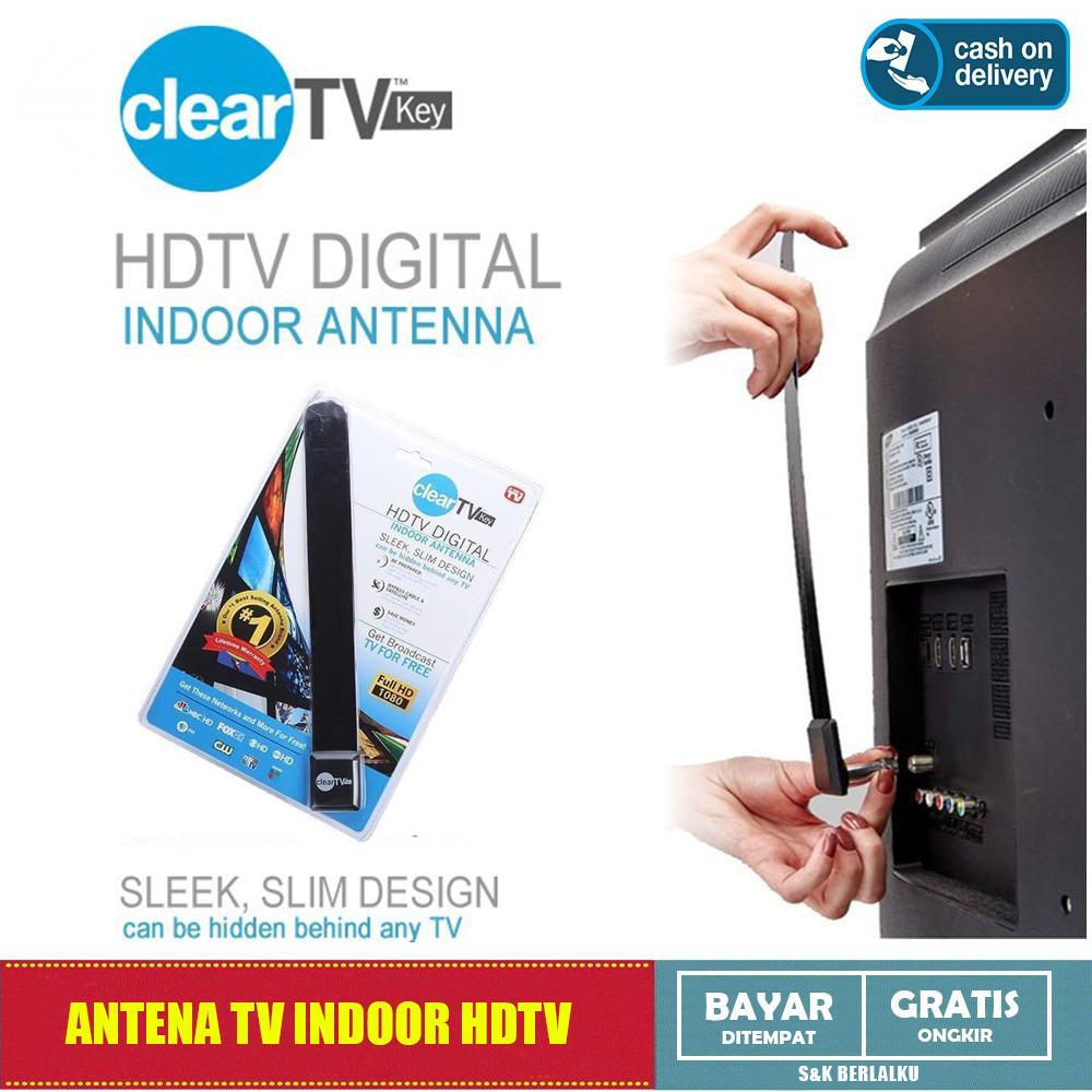 Antena TV Indoor Dalam Ruangan Booster Digital Full HD 1080 Clear TV Key Antena TV Siaran