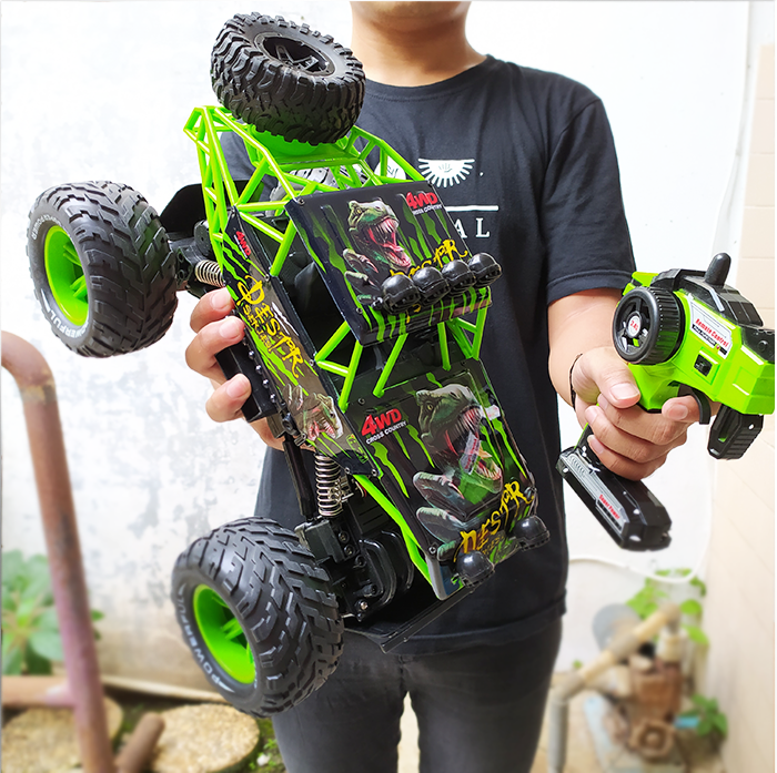 rc rock crawler 4wd power skala besar