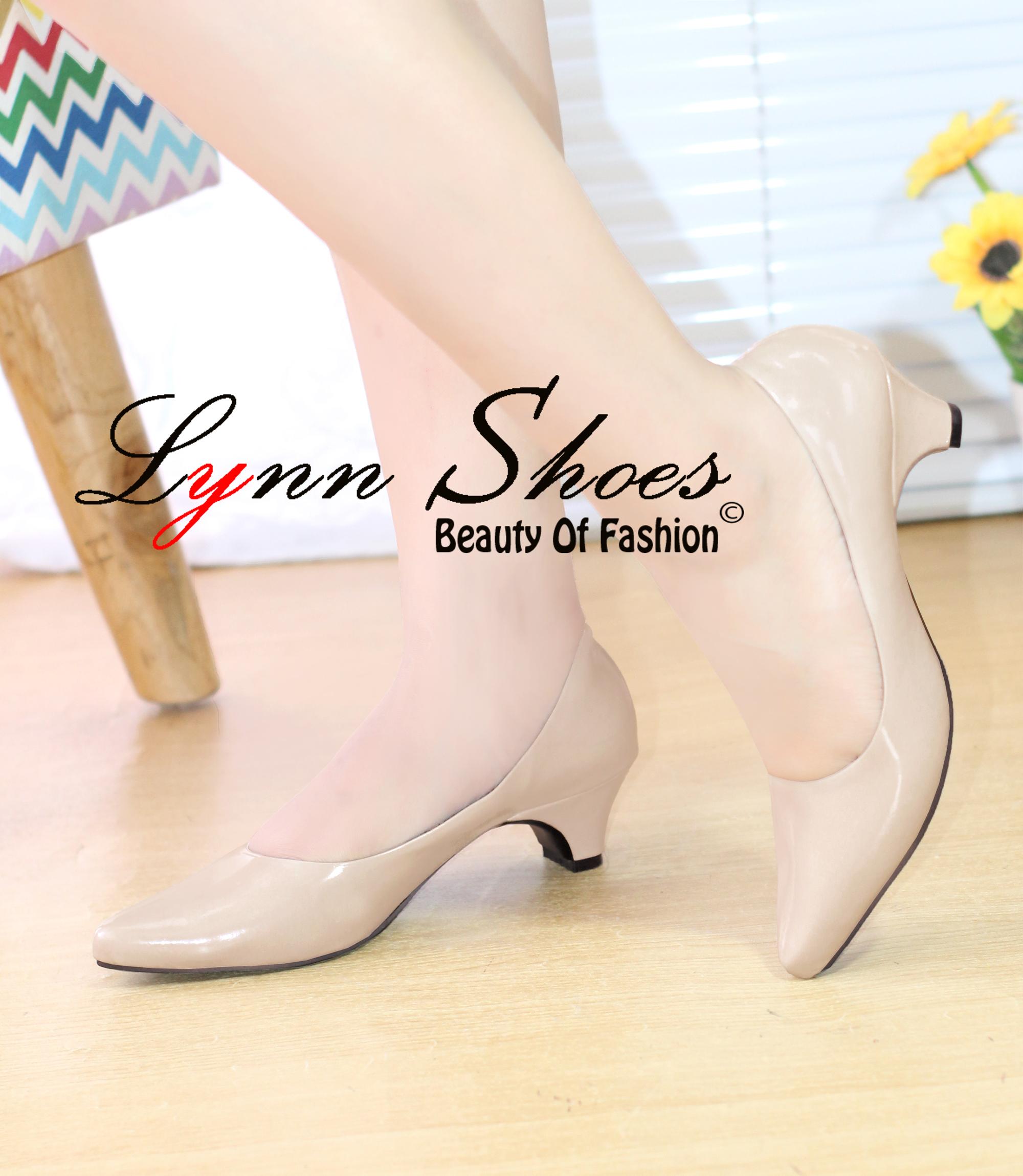 lynn phantofel sepatu kerja wanita heels pendek ph5mgcr cream