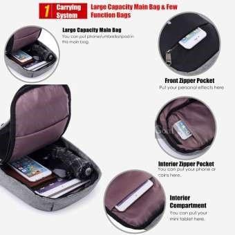 Detail Gambar Tas Selempang Slempang Anti Maling anti air plus slot + kabel usb sling bag / Body bag Pria wanita Waterproof [BodyBag] Terbaru