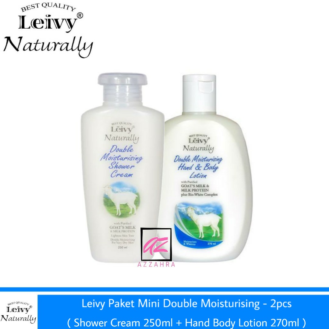 leivy paket mini double moisturising – 2pcs ( shower cream 250 + hbody 270ml )