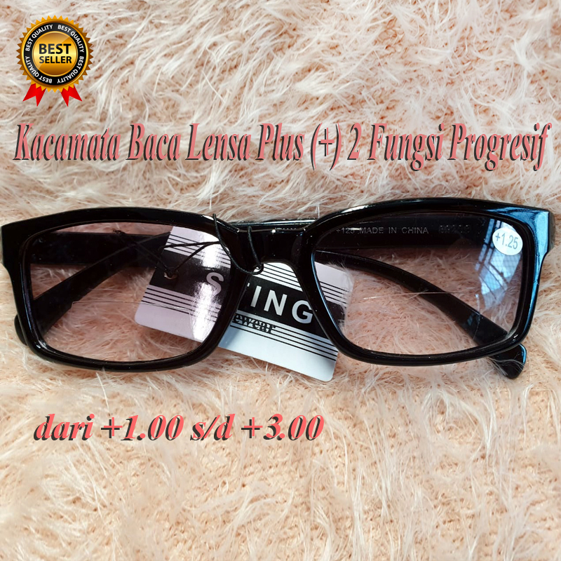 Kacamata Baca 2 Fungsi Progresif Lensa Plus (+) dari +1.00 +1.25+1.50+1.75 +2.00 +2.25 +2.50 +2.75  +3.00 Reading Glasses/ Kacamata Baca/ Kacamata Plus /Kacamata Fashion / Kacamata Pria Wanita / Kaca mata Terabaru / Kacamata Rabun Dekat / Bisa COD