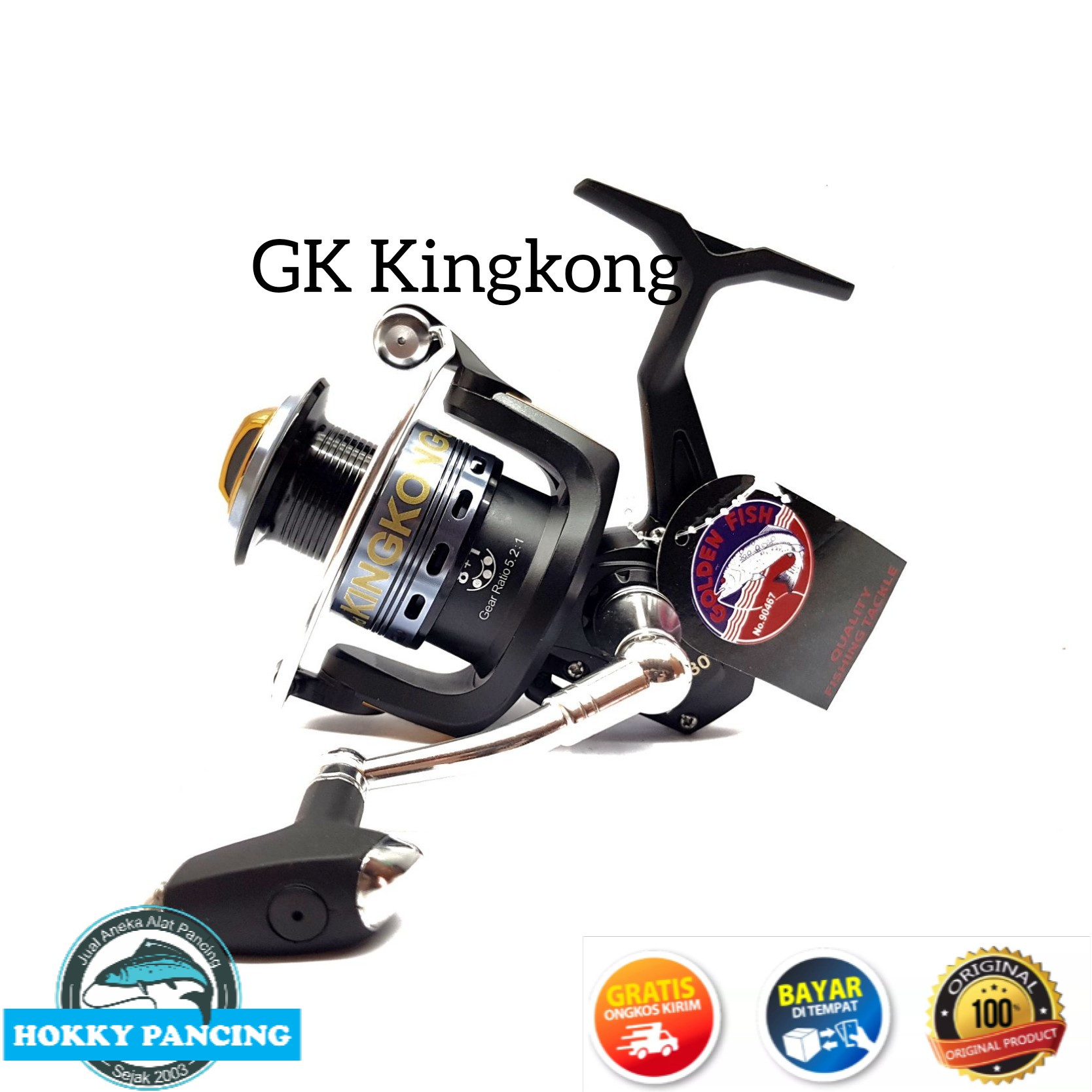 reel pancing golden fish kingkong gk 20-50
