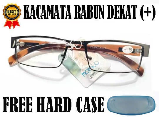 kacamata plus baca blue ray antiradiasi ukuran 0.50-4.00 free box